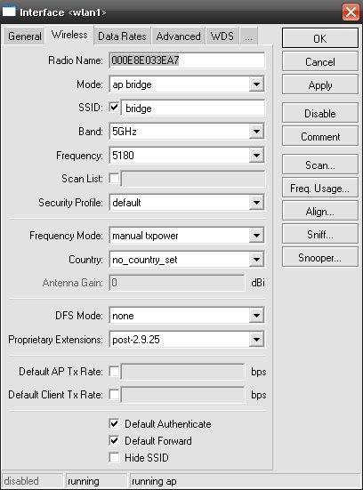 Konfigurasi wireless AP